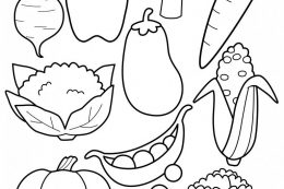 Fill my plate coloring page - the decision of man to make his life colorful or not