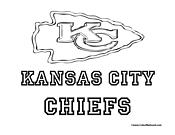 Kansas city chiefs logo coloring page