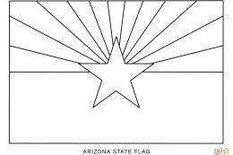Kansas flag coloring page