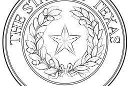 Kansas seal coloring page