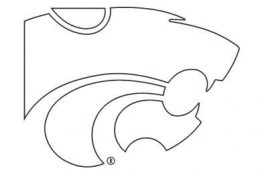 Kansas state wildcats coloring pages