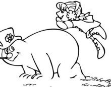 Karen and frosty the snowman coloring pages