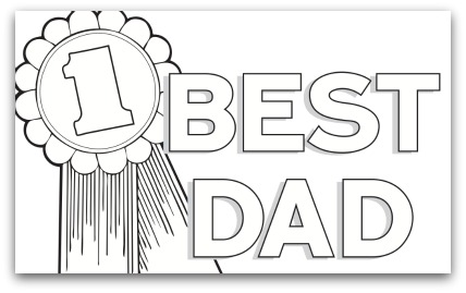 1 dad trophy coloring page photo - 1