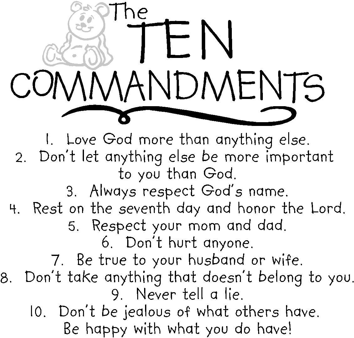 10 commandments coloring pages catholic photo - 1