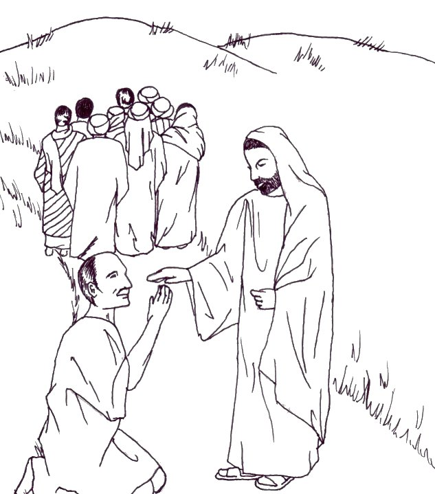 10 lepers healed by jesus coloring page photo - 1