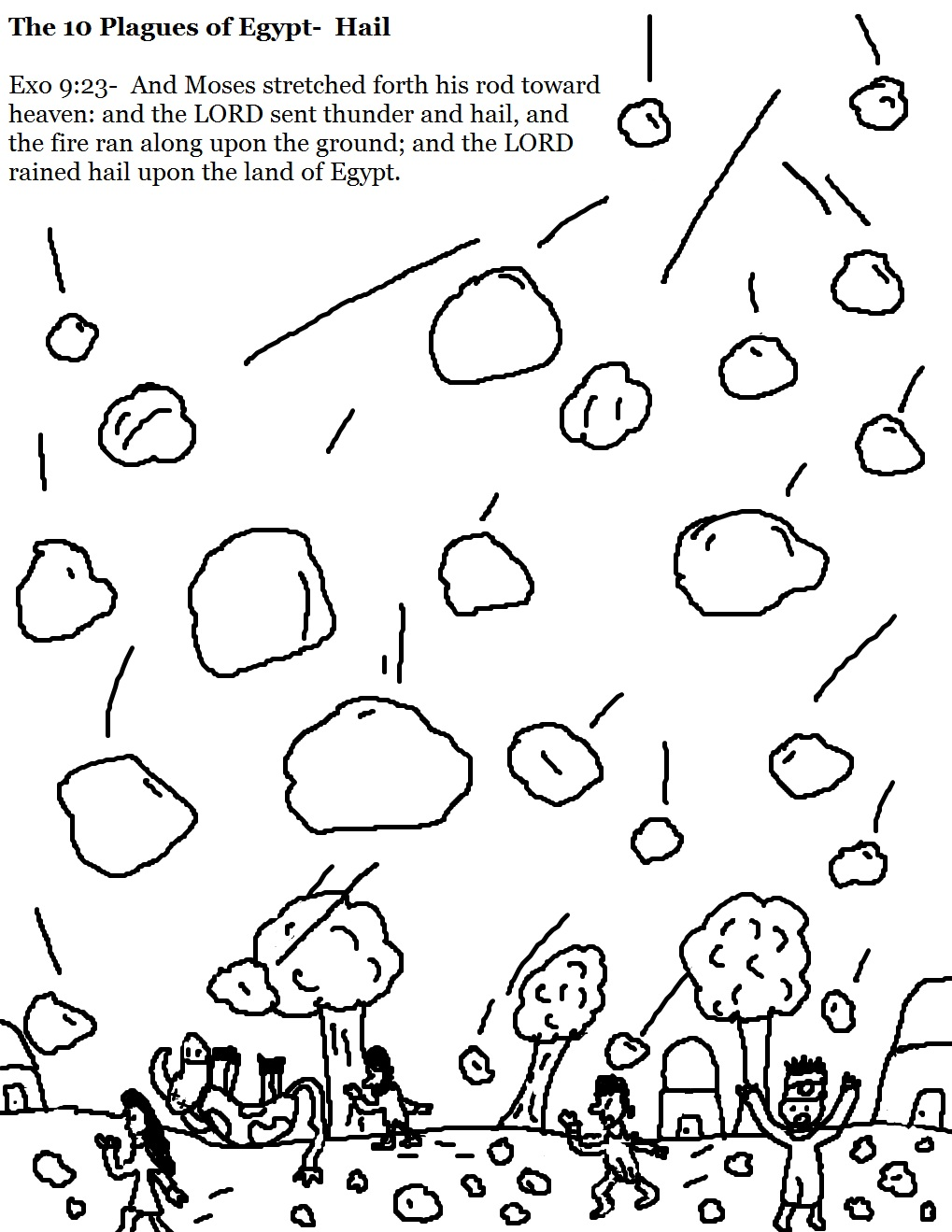 10 plagues on egypt coloring pages photo - 1
