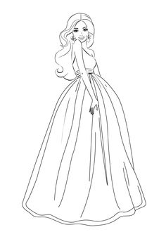 1000 barbie coloring pages photo - 1
