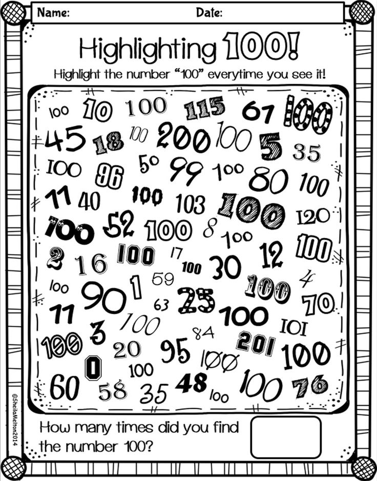 100th day of school coloring pages photo - 1