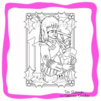 11 pipers piping coloring page photo - 1
