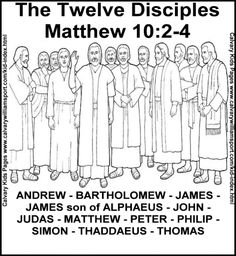 12 apostles coloring pages photo - 1