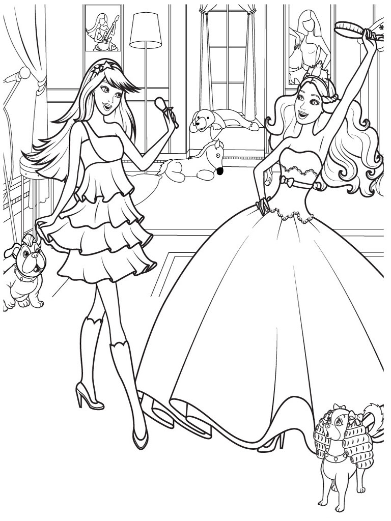 12 dancing princesses coloring pages photo - 1