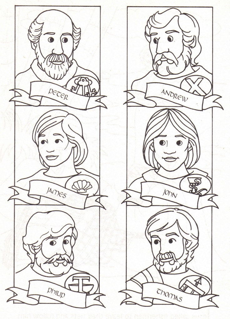 12 disciples coloring pages photo - 1