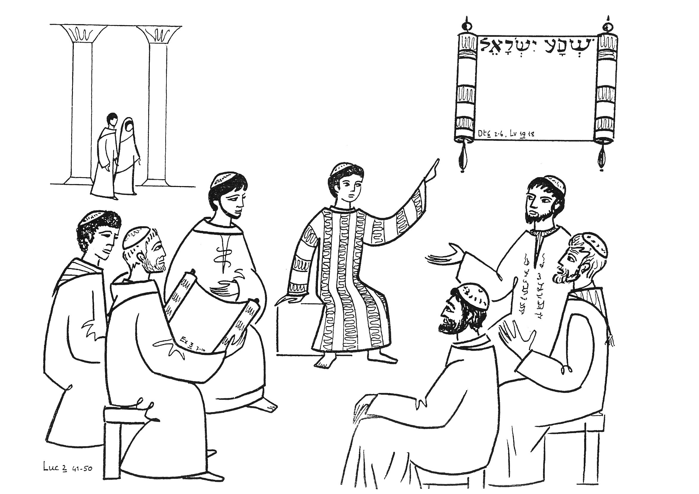 12 year old jesus in the temple coloring page photo - 1
