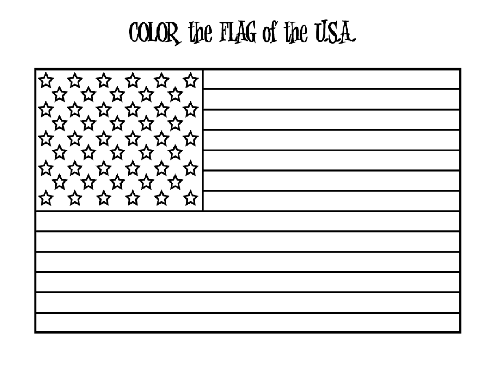 13 colonies american flag coloring page photo - 1