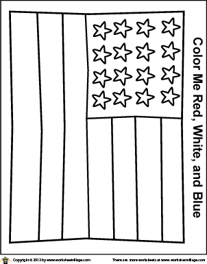 13 star flag coloring page photo - 1