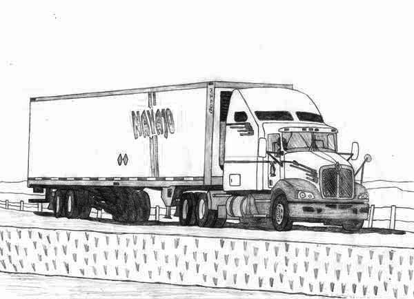 18 wheeler coloring pages photo - 1