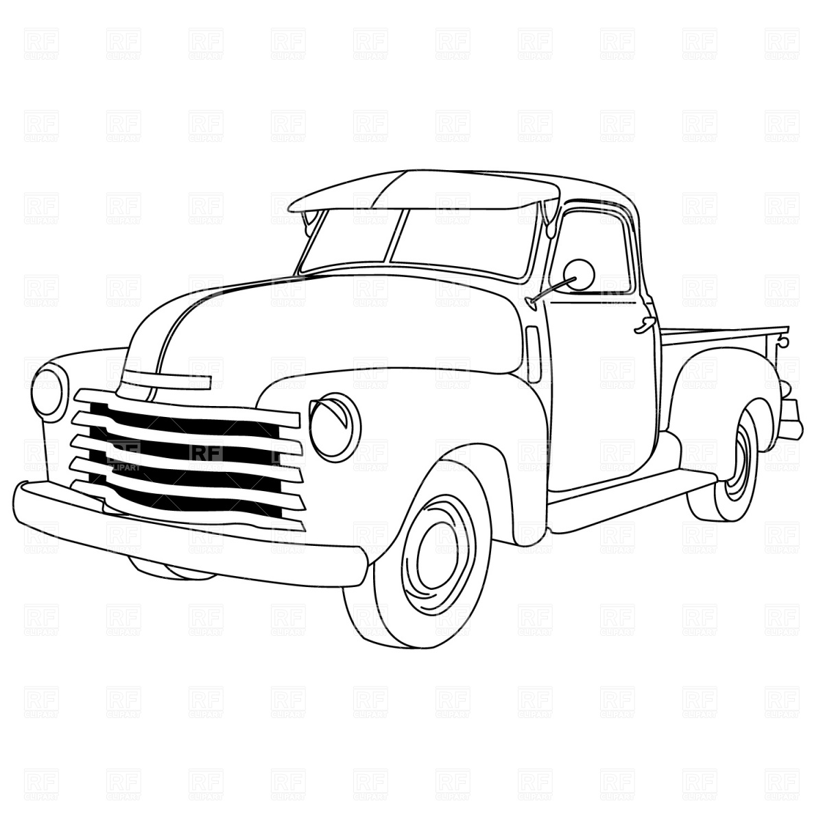 1957 chevy coloring page photo - 1