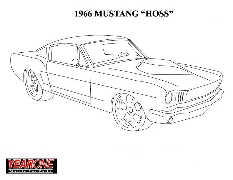 1965 mustang coloring pages photo - 1