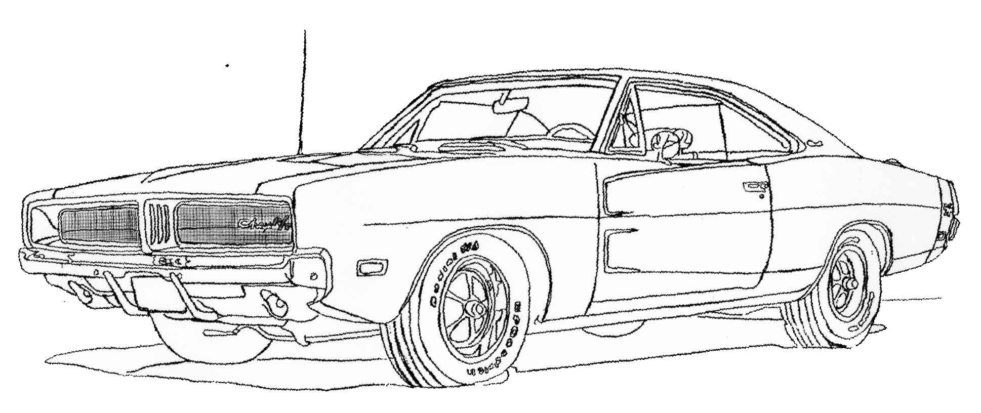 1968 mustang coloring pages photo - 1