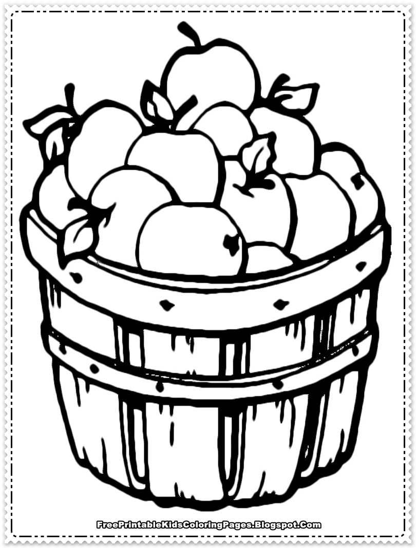 2 apples coloring page photo - 1