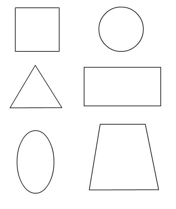 2 d shapes coloring pages photo - 1
