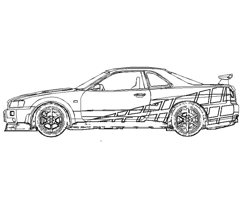 2 fast 2 furious coloring pages photo - 1