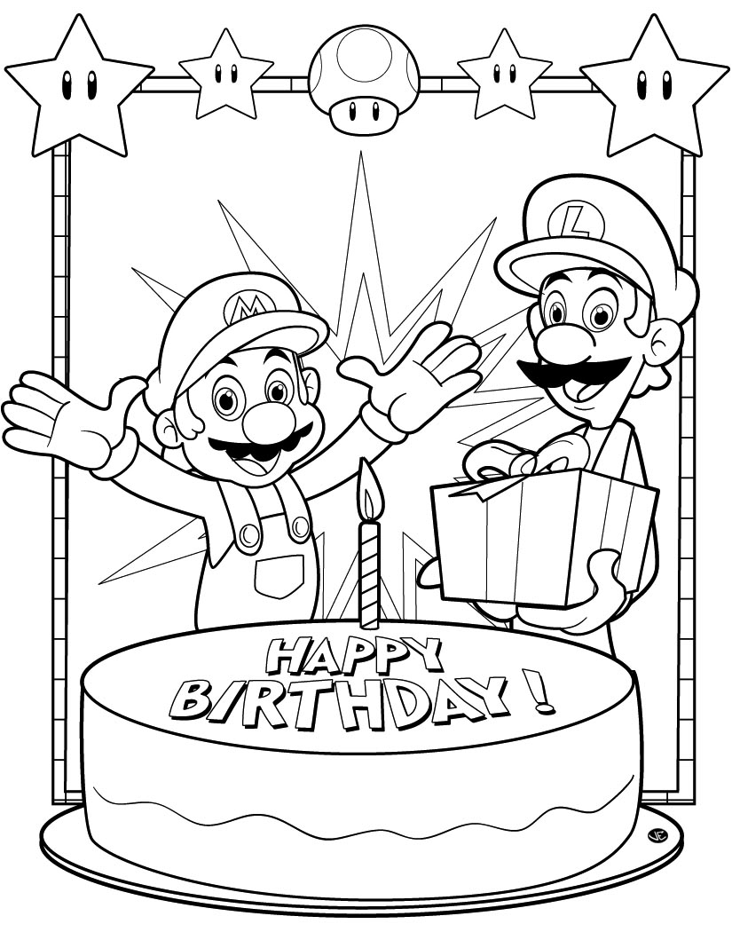 2nd birthday coloring pages photo - 1
