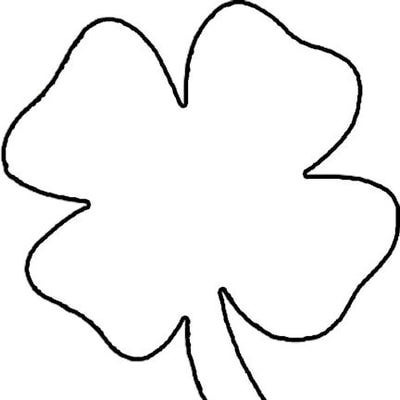 3 leaf clover coloring pages photo - 1