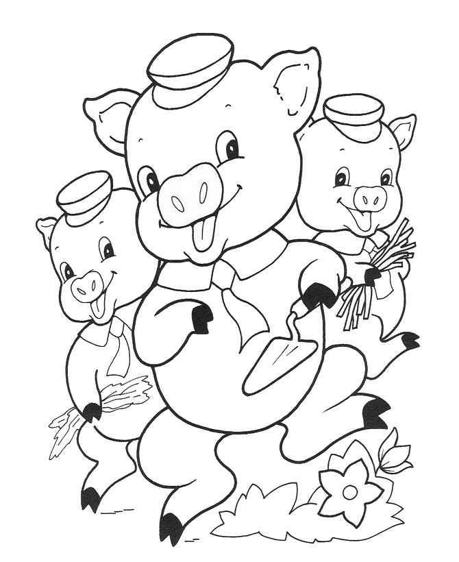 3 little pigs coloring pages photo - 1