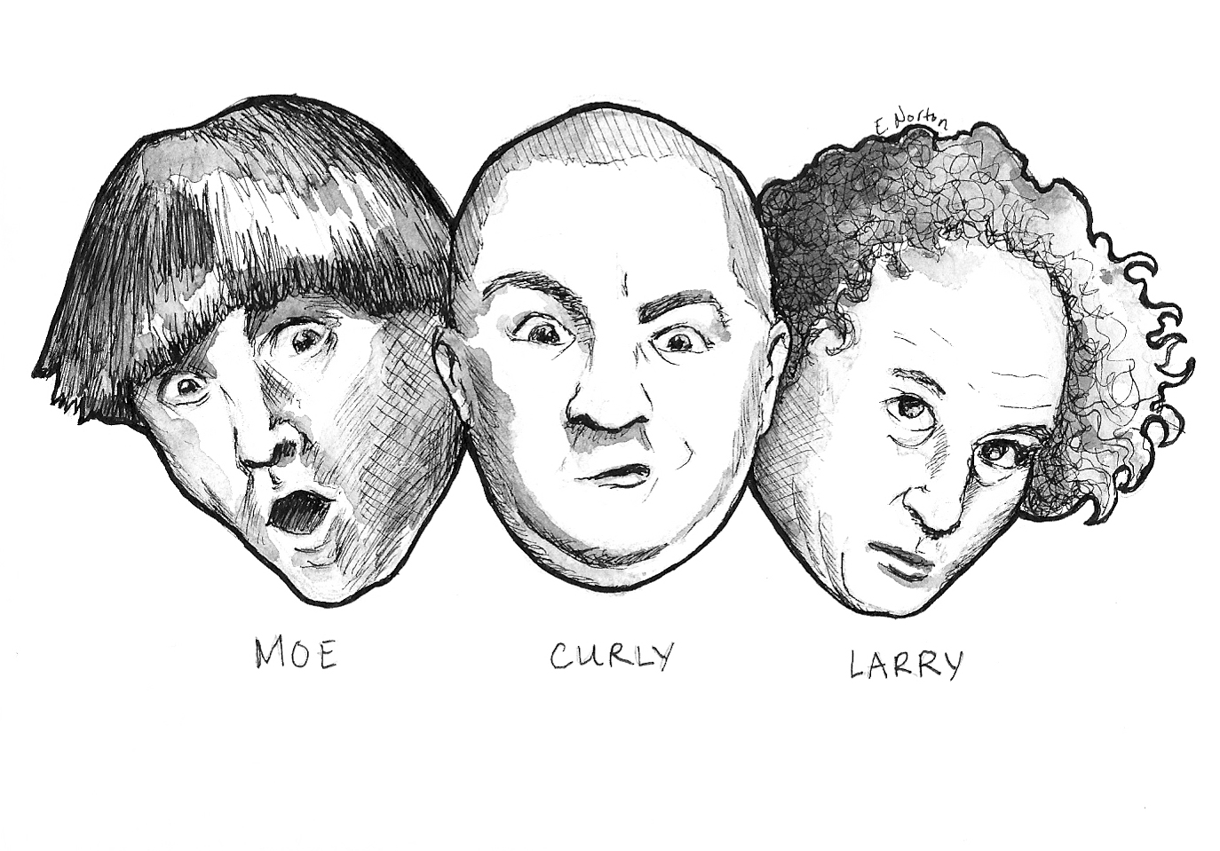 3 stooges coloring pages photo - 1