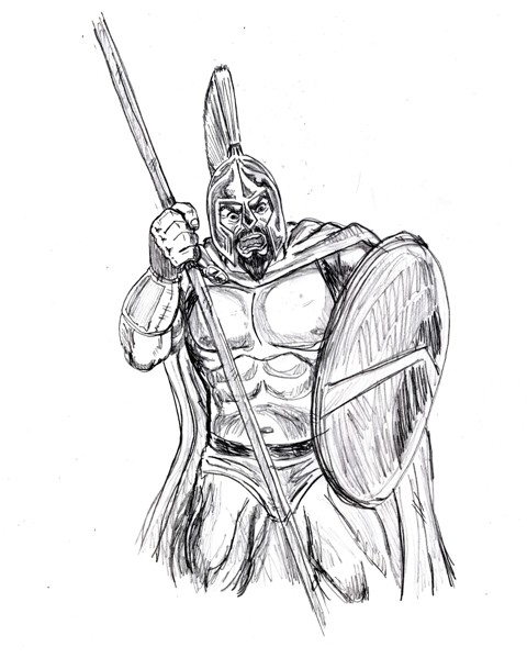 300 spartans coloring pages photo - 1