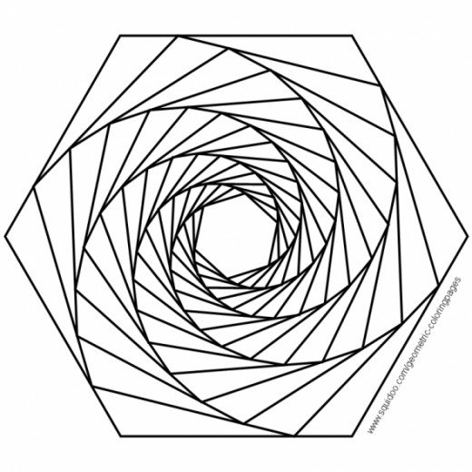 3d geometric coloring pages photo - 1