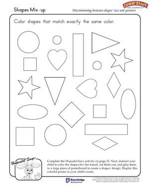 3d shapes coloring pages photo - 1