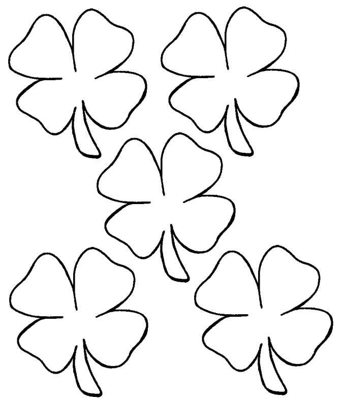 4-h clover coloring page photo - 1