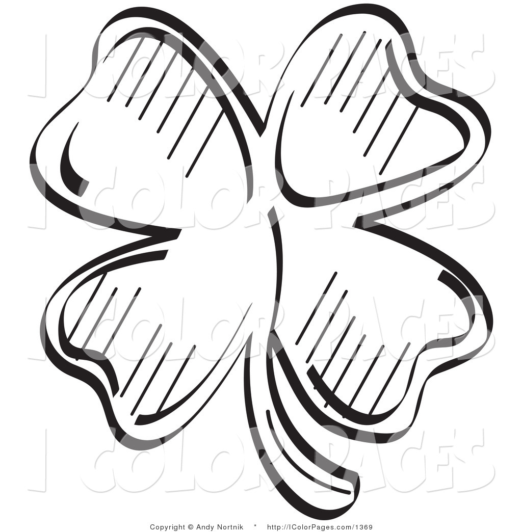 4 leaf clovers coloring pages photo - 1