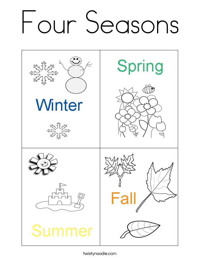 4 seasons color page photo - 1