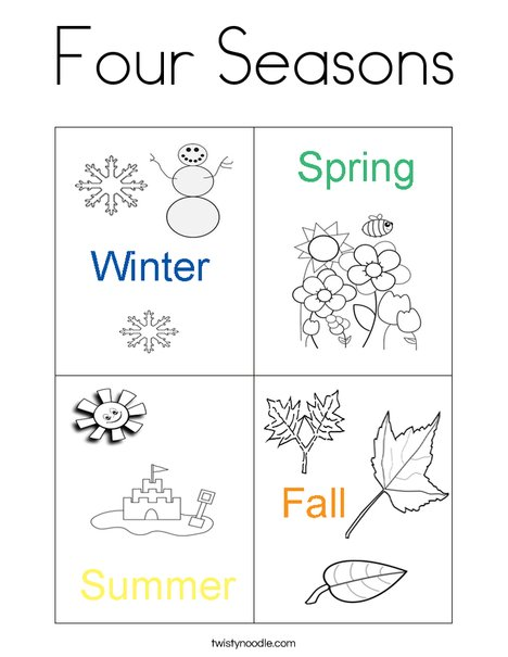4 seasons coloring pages photo - 1