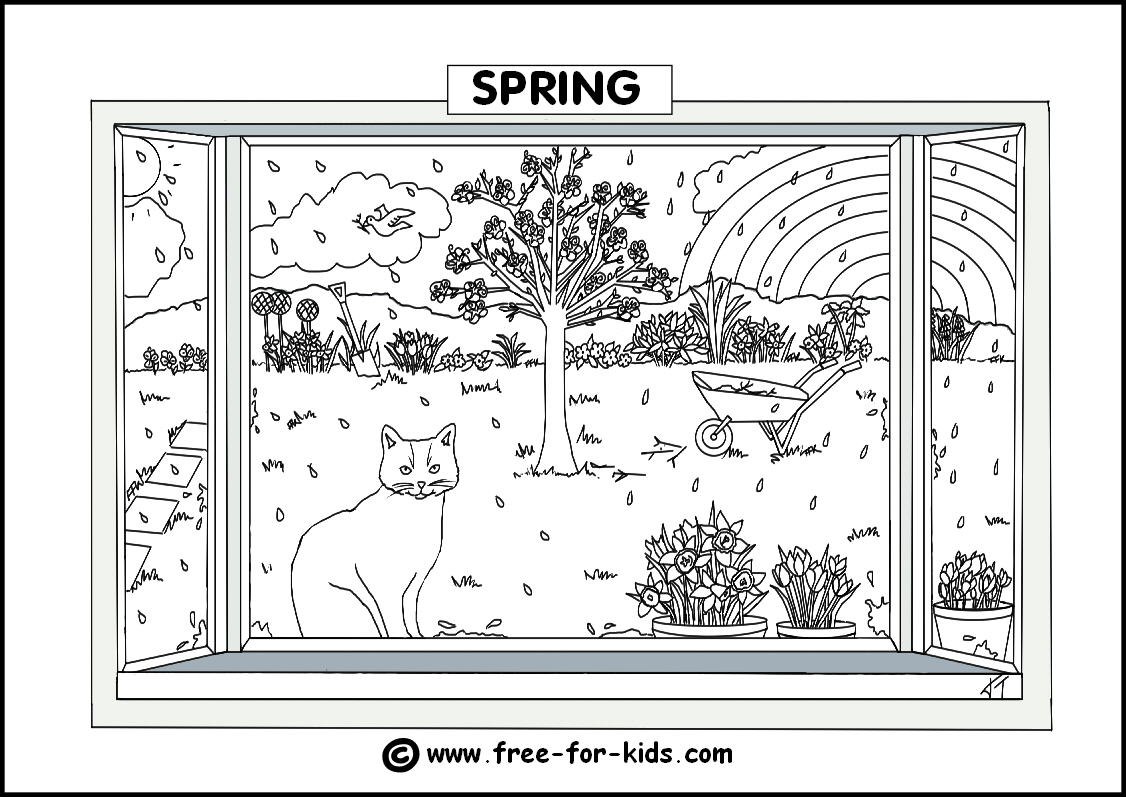 4 seasons coloring pages printable photo - 1
