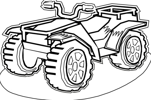 4 wheelers coloring pages photo - 1