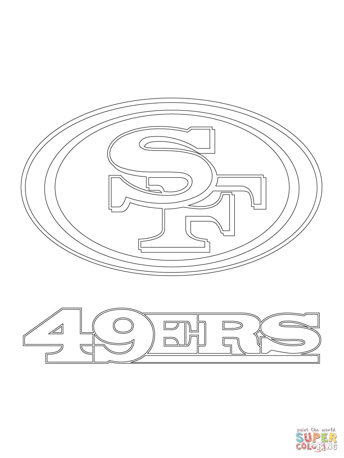 49ers logo coloring pages photo - 1