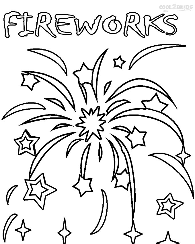 4th of july coloring pages fireworks photo - 1