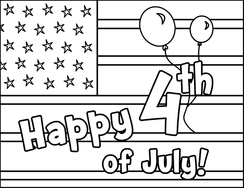4th of july coloring pages for toddlers photo - 1