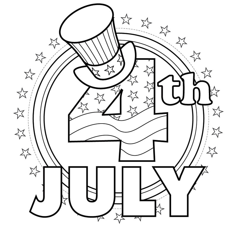 4th of july free coloring pages photo - 1