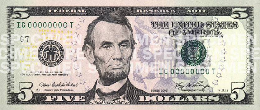 5 dollar bill coloring page photo - 1