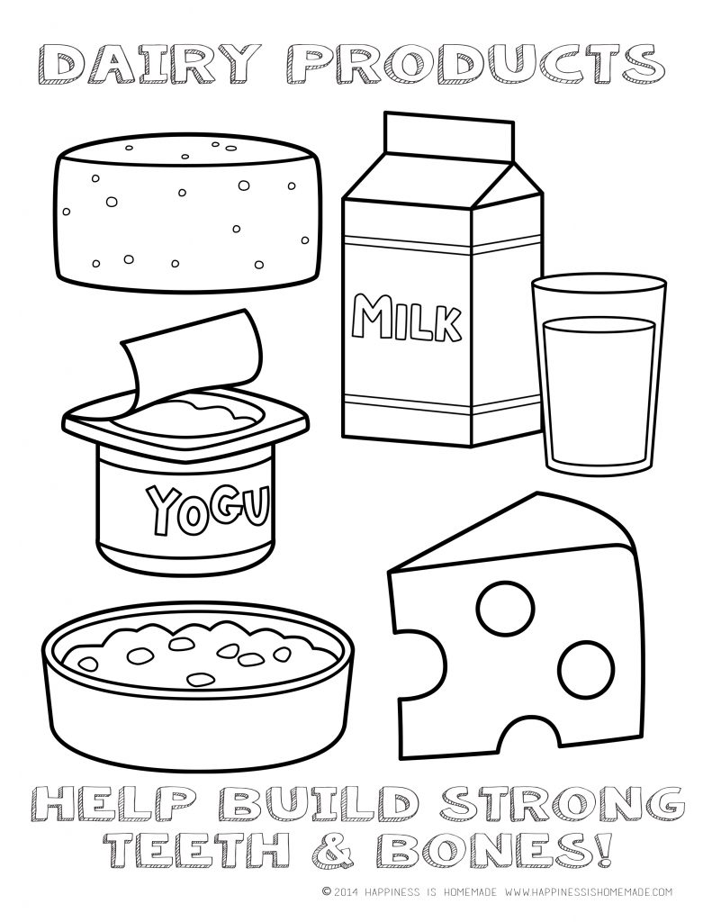 5 food group coloring pages photo - 1