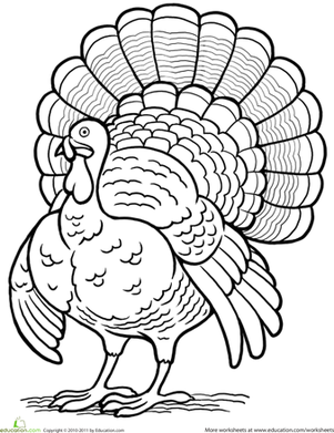 5 little turkeys coloring page photo - 1