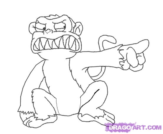 5 monkeys coloring page photo - 1