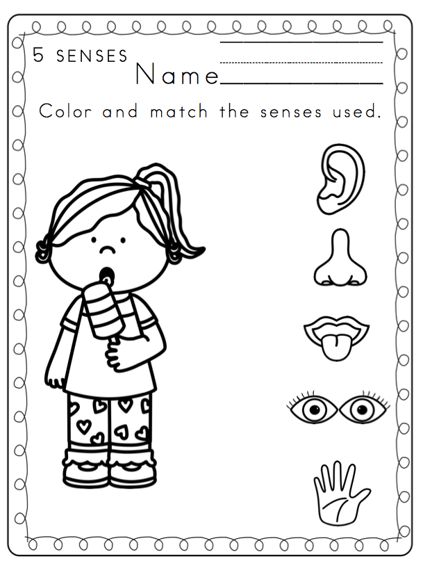 5 senses printable coloring pages photo - 1