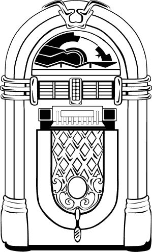 50 s jukebox coloring page photo - 1