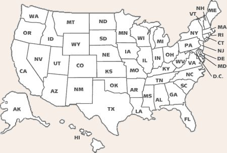 50 states map coloring pages photo - 1